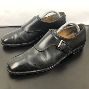 Salvatore Ferragamo Buckle Single Monk Strap